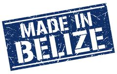Made in Belize stamp Stock Illustration