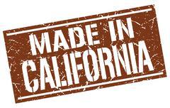 Made in California stamp Stock Illustration