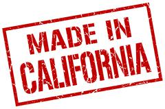 Made in California stamp Stock Illustration