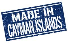 Made in Cayman Islands stamp Stock Illustration