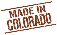 Made in Colorado stamp Piirros