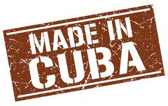 Made in Cuba stamp Stock Illustration