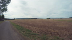 Field In A Small Village Of France Stock Footage