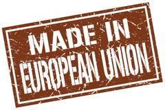 Made in european union stamp Stock Illustration