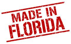 Made in Florida stamp Stock Illustration