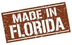 Made in Florida stamp Stock Illustration