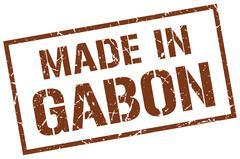 Made in Gabon stamp Stock Illustration