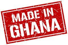 Made in Ghana stamp Stock Illustration