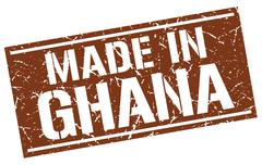 Made in Ghana stamp Piirros