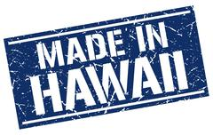 Made in Hawaii stamp Stock Illustration
