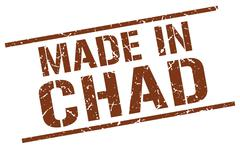Made in Chad stamp Stock Illustration