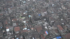 Old neighborhood on verge of collapse in Shanghai, city planning Stock Footage