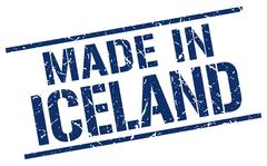 Made in Iceland stamp Stock Illustration