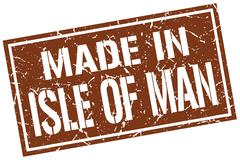 Made in Isle Of Man stamp Stock Illustration