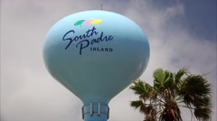 South Padre Island Sign on Water Tower Stock Footage