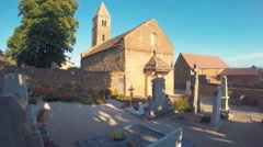 Old Catholic Cemetery France Stock Footage