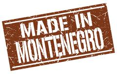 Made in Montenegro stamp Stock Illustration