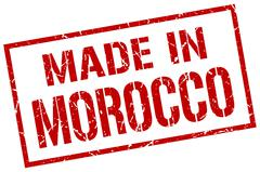 Made in Morocco stamp Stock Illustration