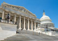 The US House of Representatives at the Capitol  in Washington D. Stock Photos
