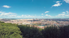 Panorama Of Lyon, France Stock Footage