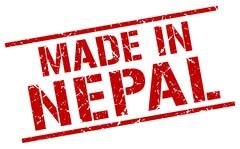 Made in Nepal stamp Stock Illustration