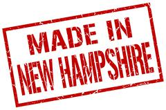 Made in New Hampshire stamp Stock Illustration