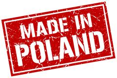 Made in Poland stamp Stock Illustration