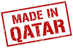 Made in Qatar stamp Piirros