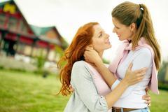 Lesbian girlfriends Stock Photos