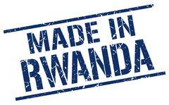 Made in Rwanda stamp Stock Illustration