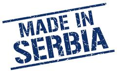 Made in Serbia stamp Stock Illustration