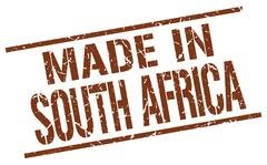 Made in South Africa stamp Stock Illustration