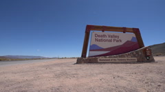 Death Valley National Park Sign Stock Footage