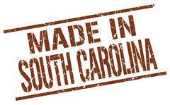 Made in South Carolina stamp Stock Illustration