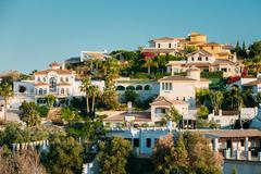 Mijas In Malaga, Andalusia, Spain. Summer Cityscape Stock Photos