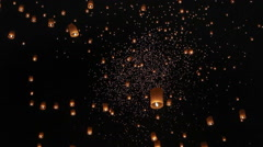 Floating asian lanterns in ChiangMai ,Thailand Arkistovideo