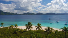Aerial view of Sandy Cay, British Virgin Islands  Stock Footage