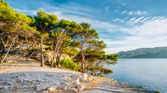 Panorama Of Beautiful Nature Of Calanques On The Azure Coast Of France Stock Photos
