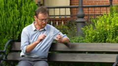 A Man Has a Rest After a Heavy Working Day Stock Footage