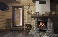 Hunter house interior Stock Photos