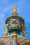 Green giant statue at Wat Phra Kaew, Thailand Stock Photos
