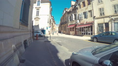Walking Around The Town Of Dijon, France Stock Footage