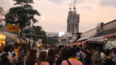Chatuchak Weekend Market in Bangkok,Thailand. Stock Footage