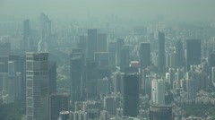 Office towers and modern skyscrapers in Shenzhen, urban landscape China Stock Footage