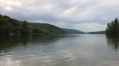 Lake with Overcast Stock Footage