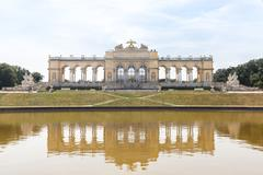 Schonbrunn Palace Garden Gloriette Stock Photos