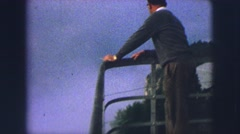 1963: tourist enjoying cloudy evening GERMANY Stock Footage