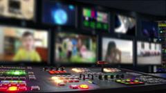 Kids TV studio Stock Footage