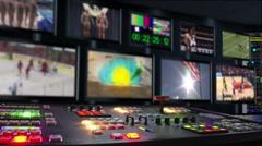 Sport TV Studio Stock Footage