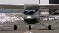 Airplane moving on a runway. Stock Footage